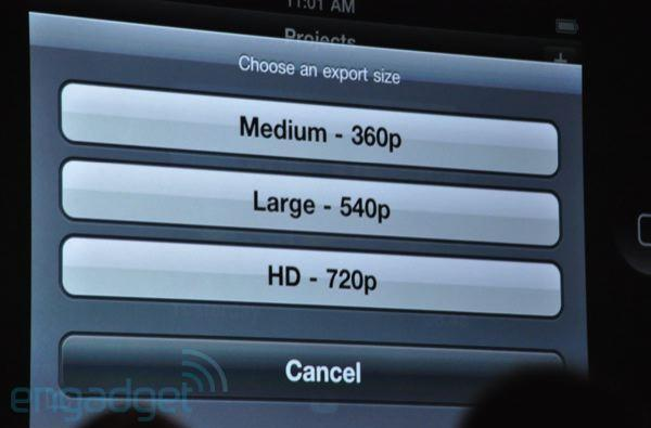 WWDC 2010: Apple announces iMovie for iPhone 4