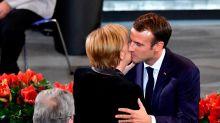 À Berlin, Macron demande une relance de l'Europe pour éviter un «chaos»