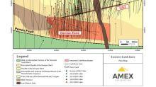 Amex Fore de Larges Intervalles de Minéralisation Aurifère proche de la Surface dans la Denise Zone Étendant la Minéralisation à 450 m Latérale à Perron, Québec