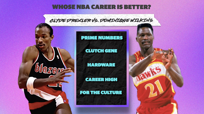 Clyde Drexler vs. Dominique Wilkins