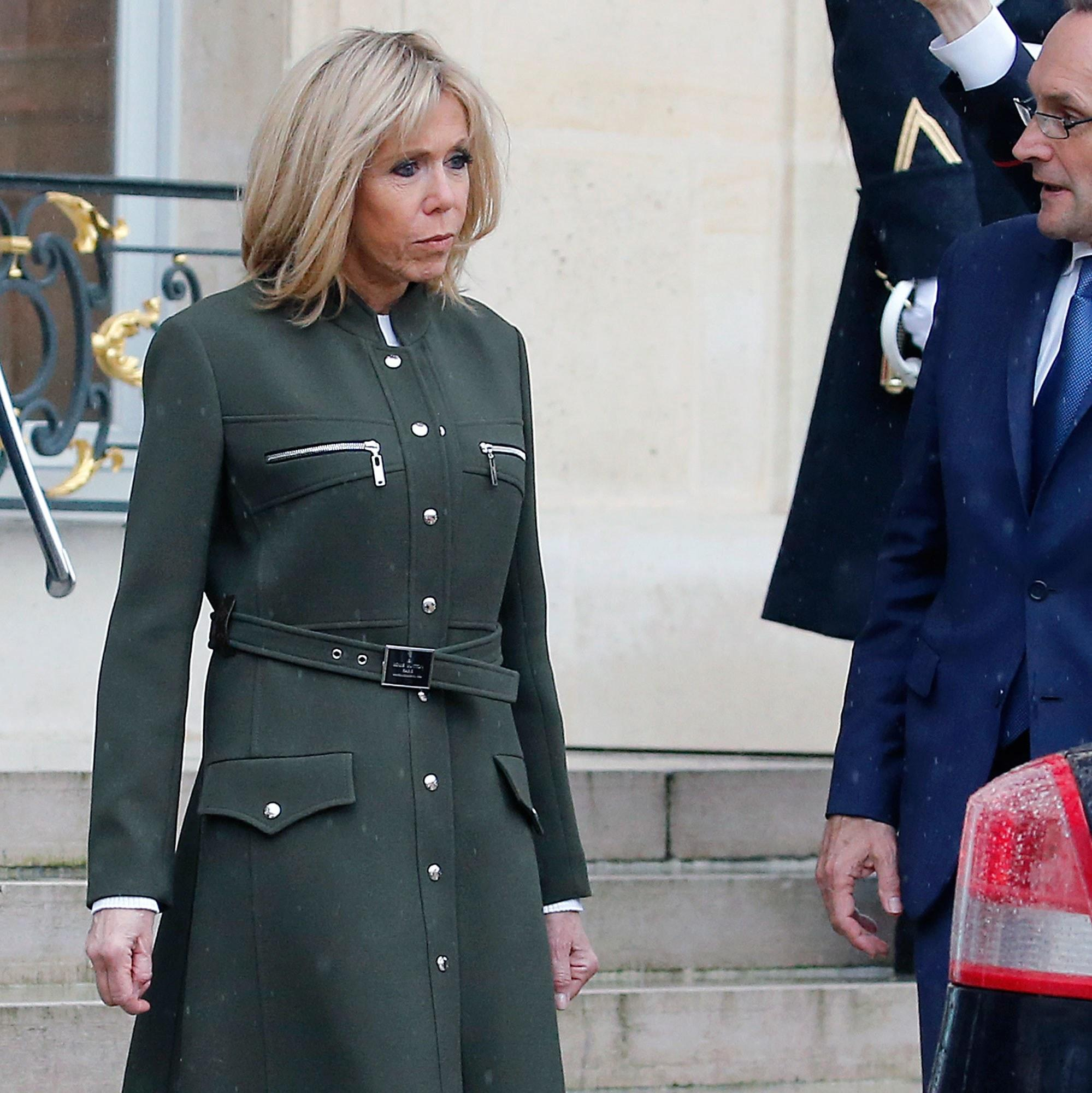 Brigitte Macron Suits Up In Next Season S Most Flattering Silhouette