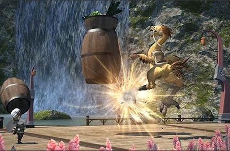 Final Fantasy XIV previews chocobo training