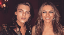 Elizabeth Hurley, 52, slammed for wearing 'inappropriate' plunging dress with 16-year-old son