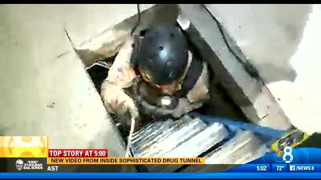 New video from inside sophisticated drug tunnel
