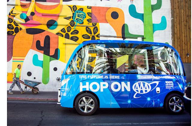 Las Vegas expands its self-driving shuttle tests this week