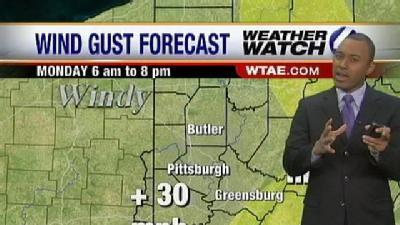 Gusty Winds On The Rise Monday