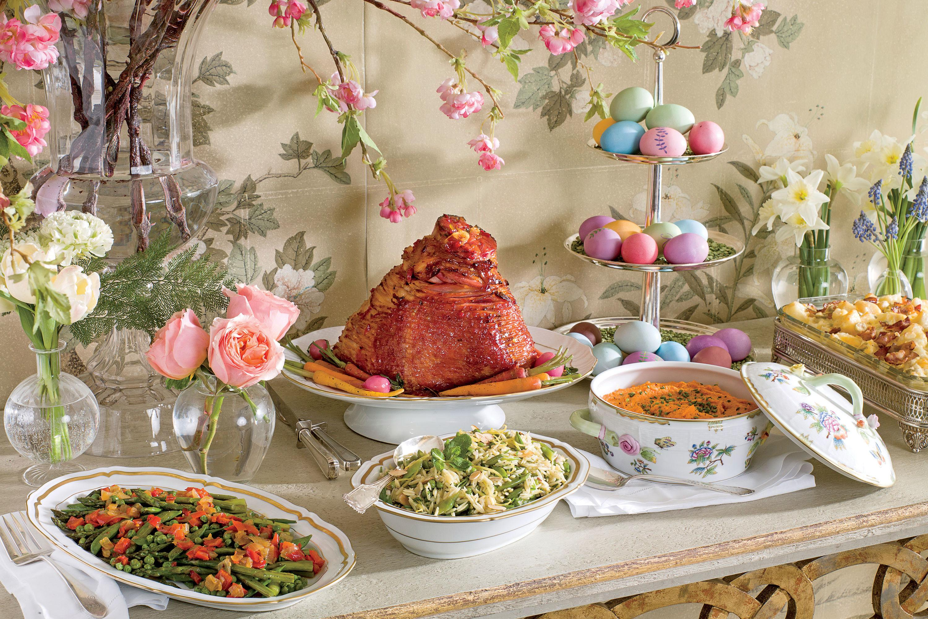 """<p><strong>Watch: <a href=""""http://www.southernliving.com/food/how-to/ham-glaze-recipe-video"""" rel=""""nofollow noopener"""" target=""""_blank"""" data-ylk=""""slk:How To Make a No-Fail Glaze For Your Easter Ham"""" class=""""link rapid-noclick-resp"""">How To Make a No-Fail Glaze For Your Easter Ham</a></strong></p> <p> Celebrate Easter this year with a traditional dinner of ham, lamb, or chicken. We have a wide range of Easter recipes from more casual options like the Lexington-Style Grilled Chicken all the way to an elegant Dijon Rack of Lamb. So set your table and serve up one of these Easter recipes for your family. What's so wonderful about Easter dinner is that these recipes help you put your family favorites on the table with whatever main dish makes your family's mouth water, or whichever savory selection brings back the most beloved memories. Settle in for a beautiful dinner and share these recipes with your family and friends.</p>"""