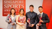 Joseph Schooling, Martina Veloso earn top honours at Singapore Sports Awards