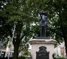 Edward Colston statue in Bristol replaced by resin sculpture of Black Lives Matter protester