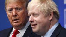 Boris Johnson says he still has a good relationship with 'previous president' Donald Trump
