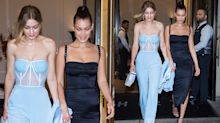 Bella Hadid goes commando in her lace-up birthday dress