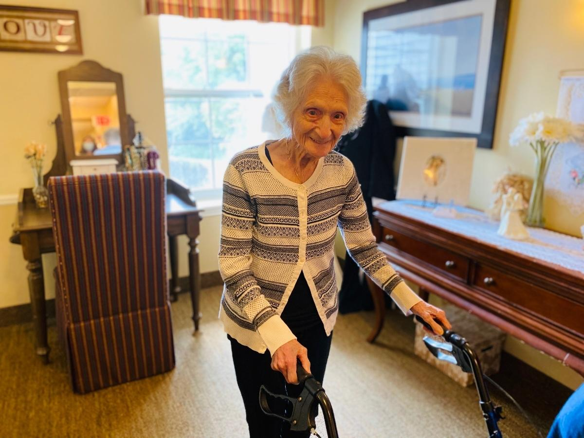 Del Priore used to walk more than a mile every day to meet with friends for coffee at McDonald's. She stopped when she turned 100.