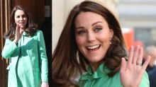 Pregnant Kate Middleton stuns in spring-ready mint green