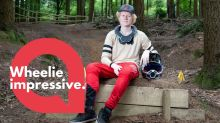A mountain biker wants to turn professional - despite being blind