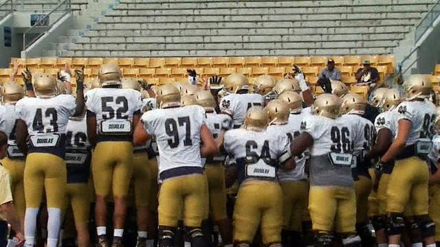 Notre Dame head football coach defends program after players suspended