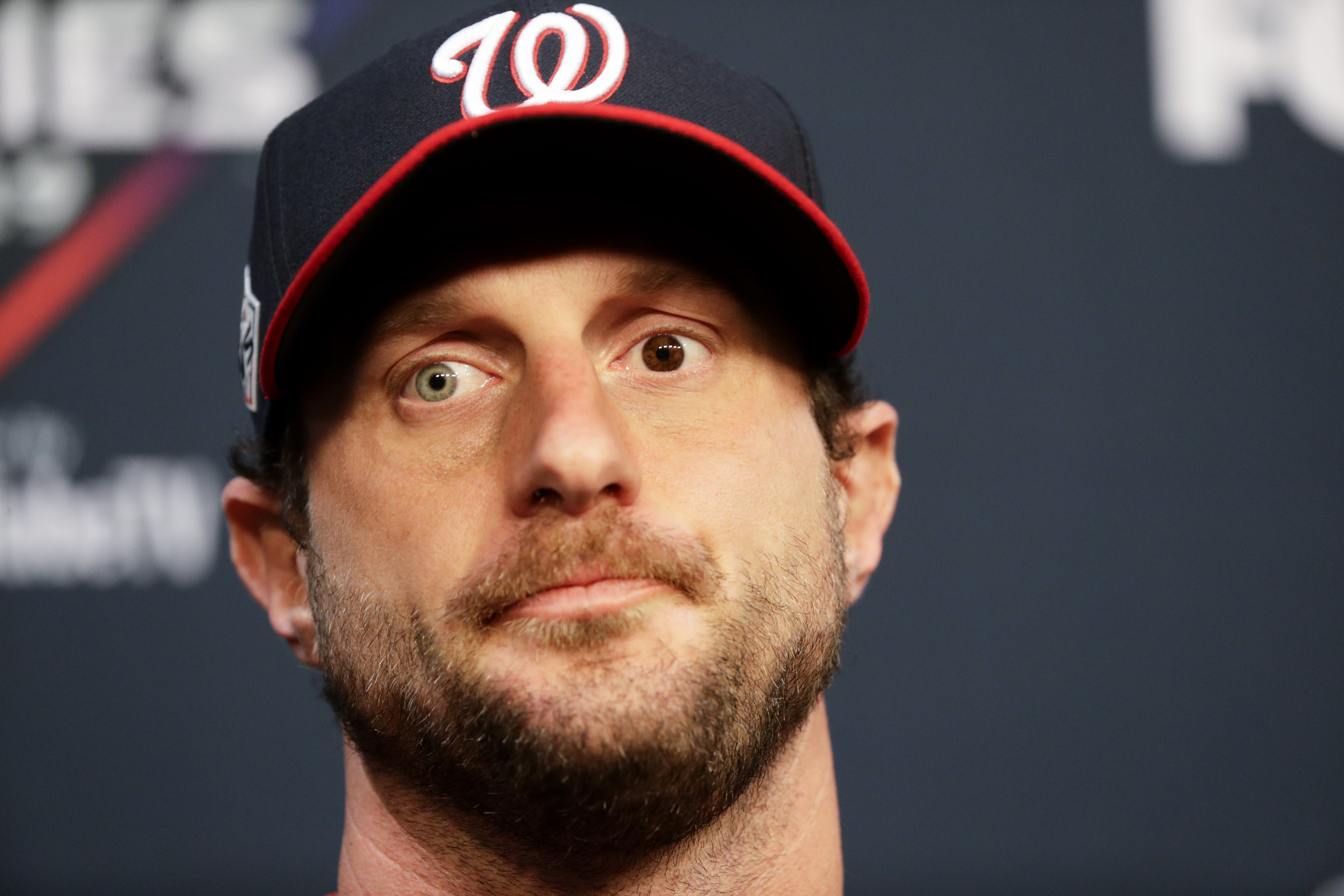 Max Scherzer will start Game 1 for the Nationals. (AP Photo/Eric Gay)
