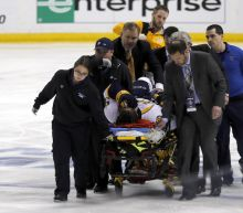Predators' Kevin Fiala done for the season after fracturing femur