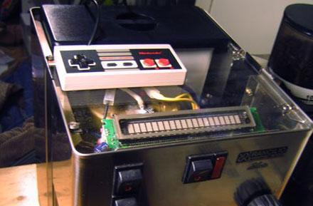 NES gamepad-controlled espresso machine