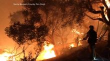 Family fleeing Calif. wildfires thankful to have each other
