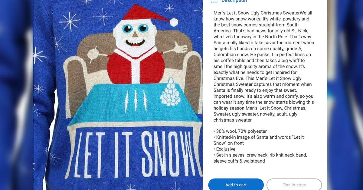 Walmart Apologizes For Sweater Where Santa Is Doing Lines of