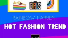 Hot Fashion Trend: Mode und Accessoires in Rainbow-Farben