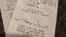 Customer allegedly writes, 'Build the f***ing wall now!' on Mexican restaurant receipt