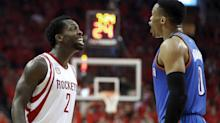 Patrick Beverley and Russell Westbrook clash on court, continue war of words after Game 5