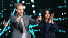 Crowd goes wild as Meghan Markle makes surprise appearance at Wembley