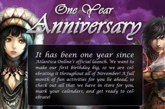 Atlantica Online celebrates its one year US anniversary