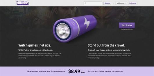 Twitch unveils new Turbo ad-free paid access