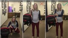 Genius hack to carry baby car seat goes viral