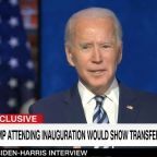 Biden says it's important for the country for Trump to attend inauguration