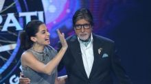 PHOTO: Taapsee Pannu shares a picture with Amitabh Bachchan from the sets of Kaun Banega Crorepati
