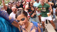 Affair de Anitta, Gabriel David curte bloco da cantora com amigos
