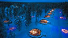 These glass igloos provide front row seats to the northern lights