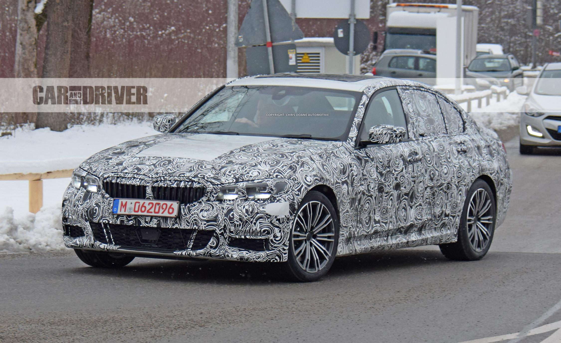 2019 bmw 3 series sedan spied this time with a look inside. Black Bedroom Furniture Sets. Home Design Ideas