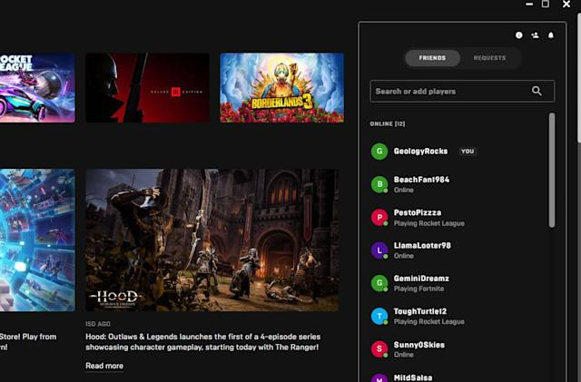 Epic Games Store lines up new social features including a party system