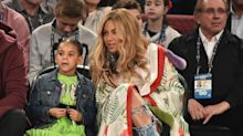 Beyoncé and Blue Ivy Wear Matching Gold Outfits at Wearable Art Gala