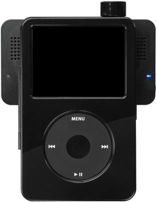 Clear iPod case pulls double duty with rotating speakers