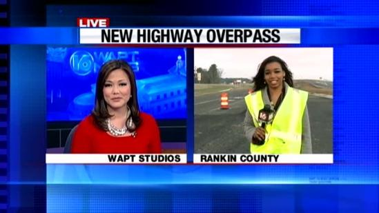 Overpass eases traffic near airport