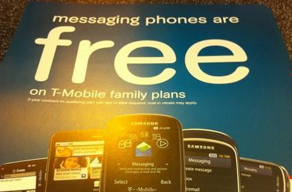 T-Mobile's Motorola Charm to go for a big, fat zilch on family plan activations?