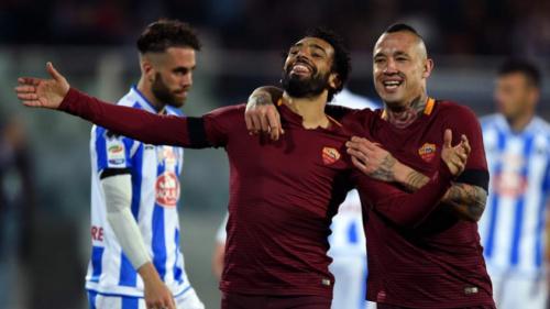 Roma vence Pescara e mantém diferença para a Juve em oito pontos