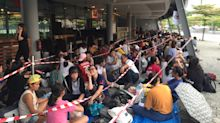 Hundreds queue for BTS concert tickets a day before sales begin in Singapore