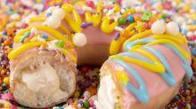 Krispy Kreme's Cake-Batter-Filled Doughnuts Are the Sugary Clusterf*ck You Deserve