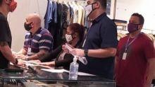 Fiscalização do uso obrigatório de face shield para comerciários tem 32 lojas notificadas