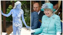 Nude model rocks up to royal event in nothing by body paint