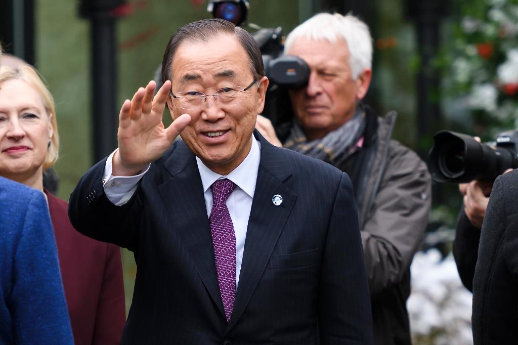 Ban Ki-Moon says he will count on Donald Trump's new US administration to help combat climate change and advance human rights (AFP Photo/Fabrice Coffrini)