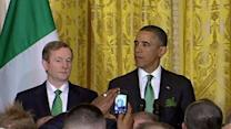 At White House, a Belated St. Patrick's Day