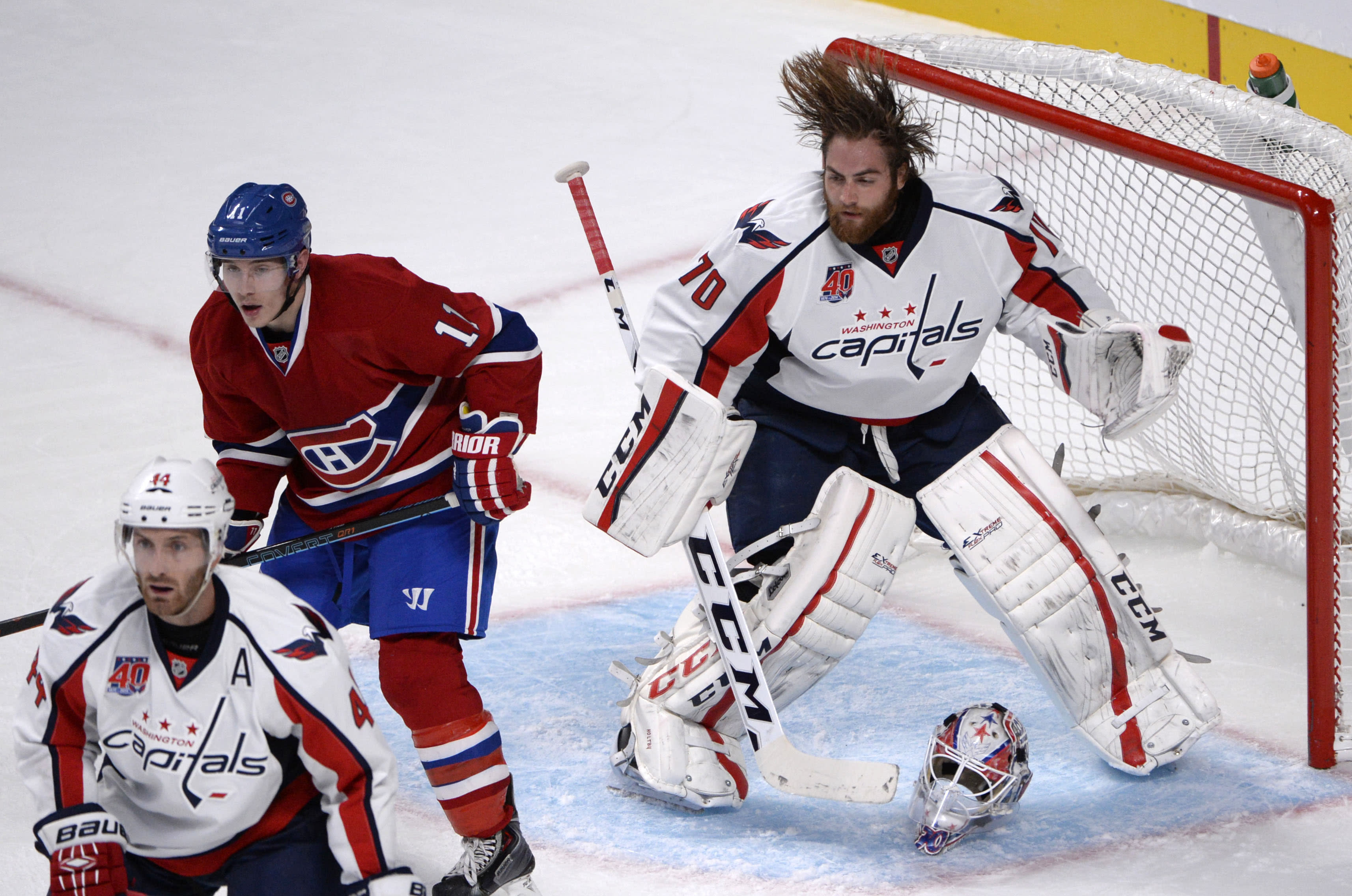 Braden Holtby Head Bangs His Mask Off Vs Montreal Video