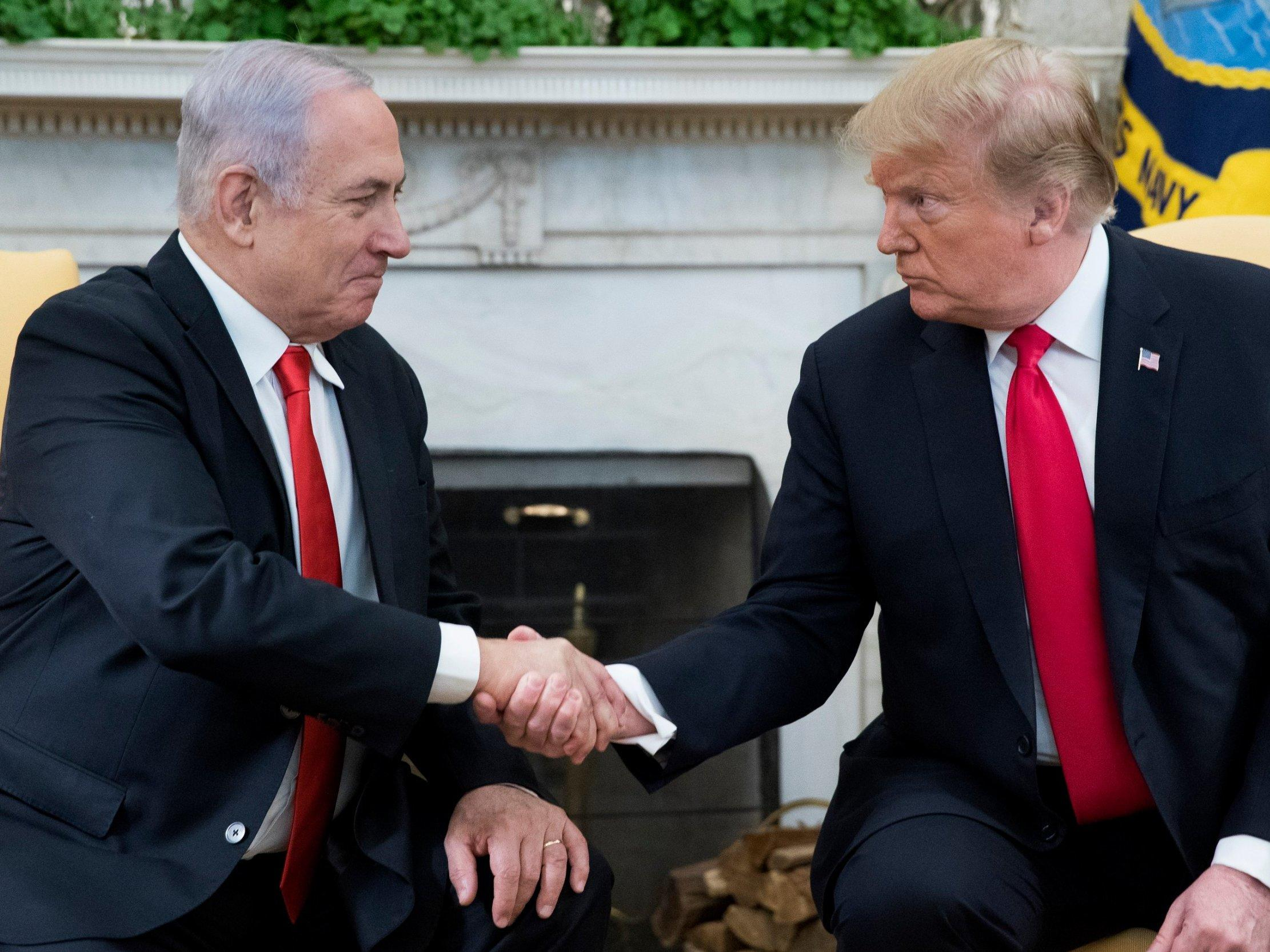 Netanyahu jokes with Trump about corruption probe: 'I hope they don't open an investigation on us'